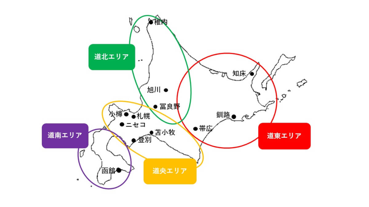 マップ 北海道 観光